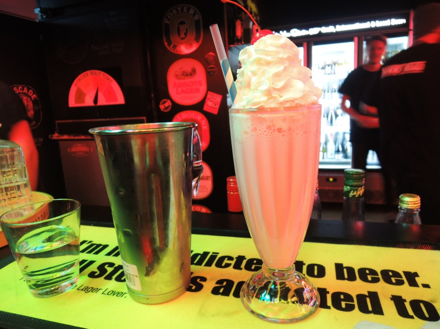 A good old-fashioned milkshake
