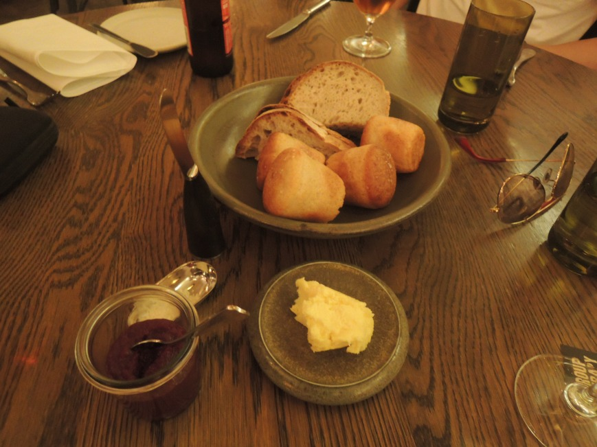 Bread & butter, with a side of beetroot chutney which went very well on the bread